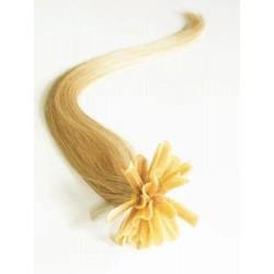 Vlasy evropského typu k prodlužování keratinem 40cm - přírodní blond